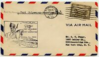 5 c. Air Mail Stamp First Flight Fort McMurray - Fort Chipewyan Cover '29 Indian