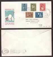 Netherlands, 1954 Children Games set on fdc cover       -AX72