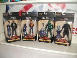 marvel legends CAPTAIN MARVEL X4 Figs Bundle BAF KREE SENTRY NEW free postage