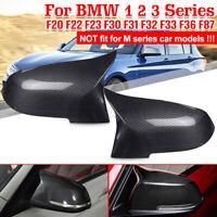 Carbon Fiber Rear View Side Mirror Cover For BMW F20 F21 F30 F32 F36 F87 Glossy
