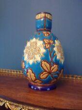 Vase LONGWY, Hauteur 200mm - Décor d'oiseauxe fleurs (Edelweis)