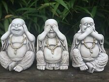 NEW LOWER PRICE! Set of 3 Wise Budda Latex and Fibreglass Garden Ornament Moulds
