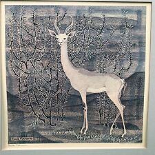 EMILE NORMAN GERENUK 1966 MID CENTURY PRINT SIGNED MATTED