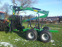 Timber Forwarder Kellfri 9 ton £ 9350.00 + VAT 6.3 mtr Crane, Winch & Brakes