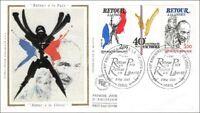 40e Ann. de la VICTOIRE -  RETOUR A LA PAIX, A LA LIBERTE - PARIS - 1985 - FDC