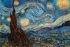 Vincent Van Gogh The Starry Night Post Impressionist Painting Poster - 36x24
