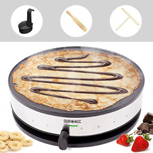 Duronic Crepe Maker PM131   33cm Electric Pancake Machine   1300W   Cook French