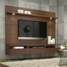 TV Entertainment Unit Home Brown Wall Mounted Floating Media Console Center New