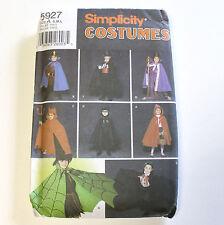 Simplicity 5927 Kids Costume Pattern Sz 3-8 Uncut Devil Witch King Cape Robe