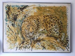Leopard -  beautiful limited edition framed print by David Koster
