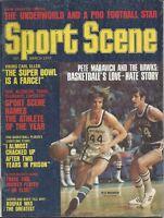 1972 (March) Sports Scene Basketball magazine  Pete Maravich, Atlanta Hawks EX