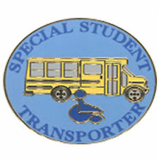 Special Needs School Bus Driver Pin - Blue