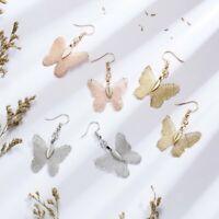 Fashion Natural Leaf Butterfly Drop Dangle Earrings Hook Women Wedding Jewelry