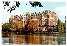 Amstel Hotel Amsterdam Postcard Netherlands Holland Unposted Water Trees