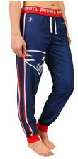 KLEW NFL Women's New England Patriots Cuffed Jogger Pants, Blue