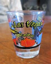 Vintage Las Vegas Casinos Lights Nevada NV Souvenir Shot Glass Clear Used