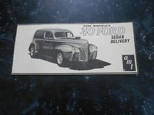Vintage 60s amt '40 FORD SEDAN DELIVERY (INSTRUCTIONS)