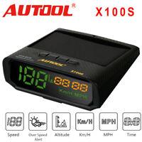 Autool X100S Solar GPS Universal Car Digital Head-Up Display KMH MPH Speedometer
