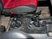Gear & Hi-Low Gaiter For Mercedes G-Class W460 W461 1979-2001 Black Leather