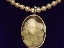 Hand carved high relief cameo