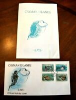 CatalinaStamps: Cayman Islands Stamps #662-665 FDC with Program, Lot B6