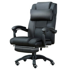 Home Office Executive Computer Chair Footrest Recliner Racing Lift Faux Leather