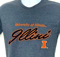 University of Illinois Illini Champaign Superman Big Ten Shirt Size Large