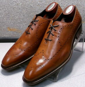 242716 MSi60 Men's Shoes Size 10 M Tan Leather Made in Italy Johnston Murphy