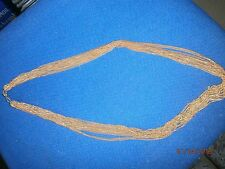necklace multi strand gold plated 16 inches approx