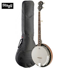 Stagg 5-String BJM30 DL LEFT HAND Deluxe Banjo with Metal Pot + Padded Gig Bag