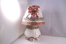 Unmarked Christmas Candle Holder Lamp Holly Berry