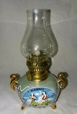 Vintage Hawaii Hula 50th State Oil Lamp Dragonware Japan Miniature Souvenir