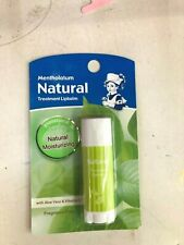 Mentholatum Lip Balm Therapy Men Cool Aqua SPF 15 Natural Treatment Deep Moist