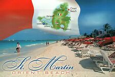 Orient Beach, Saint Martin, French West Indies, St., Caribbean, Flag -- Postcard