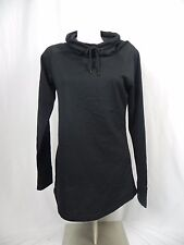 NEW Champion Fleece Lined Black Long Sleeve French Terry Tunic Top (S1-3)