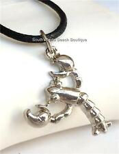 Silver Plated Lobster Necklace Pendant Beach Island Sea Life 22 inches USASeller