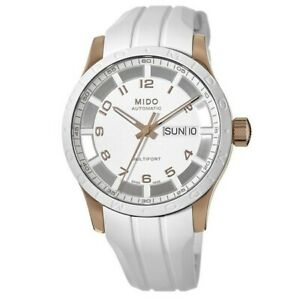 New Mido Multifort Automatic Rode Gold Tone Women's Watch M018.830.37.012.80