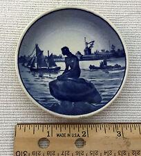 Royal Copenhagen Denmark Fajance 2-2010 Langelintie Mini collector plate Mermaid