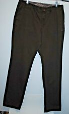 Eddie Bauer Womens Size 14T  Original Loose Tapered Leg Pants 100% Cotton Brown