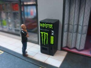 1/64 Scale Resin Monster Drink Vending Machine Hot Wheels Matchbox Diorama