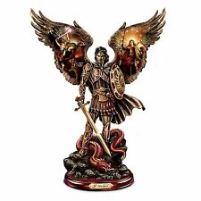 804bb90708f Archangel St. Michael Angel Statue Warrior Cold-Cast Bronze Sculpture NEW