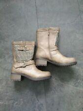 Biker/Goth studded leather boots size 7 carvela By Kurt Geiger