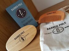 Natural Boar Hair Beard Brush and Comb set with travel bag & Box.