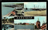 ZANZIBAR Sansibar ~1965 Post Card Multi-View Postcard Postkarte gebraucht color