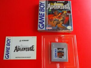 THE CASTLEVANIA ADVENTURE FOR GAMEBOY COMPLETE WITH BOX AND INSTRUCTIONS!
