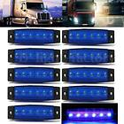 10x 6 LED Side Marker Indicators Lights Rear Light Lorry Truck Trailer Car Blue