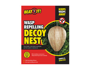 WASP REPELLING DECOY NEST NATURAL PAPER INSECT PEST REPELLENT HORNET BEE NEW