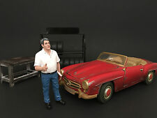 MECHANIC MANAGER TIM FIGURE FOR 1:24 SCALE MODEL CARS BY AMERICAN DIORAMA 77493