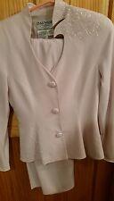 Daymor Couture light pink jacket skirt mother of the Bride dress sequins sparkle