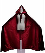 Gris Claro Capa con capucha puntiaguda más colores disponibles Bruja Mago Fantasía c48